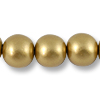 Wood Beads Round 20mm Gold (16