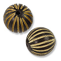 Bead Wood Round Dyed Cocoa Brown 15mm (1-Pc)