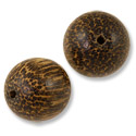 Taad Wood Beads 22mm Round (2-Pcs)