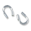 Wire Protector Guard .50mm Hole Sterling Silver (2-Pcs)