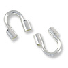 Wire Protector Guard .75mm Hole Sterling Silver  (2-Pcs)