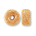 Rondelle Stardust Bead 4mm Rose Gold Filled (1-Pc)