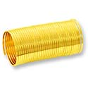 Flat Ring Memory Wire Gold Plated Steel 1/3oz.
