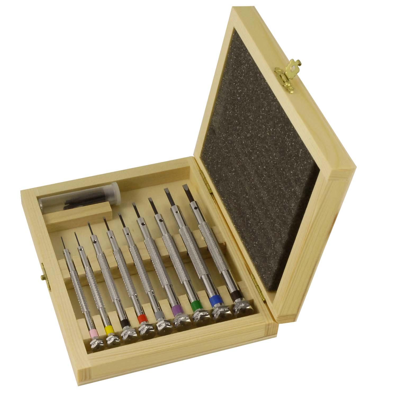 screwdriver set jewelers screwdriver set in wooden box. Black Bedroom Furniture Sets. Home Design Ideas