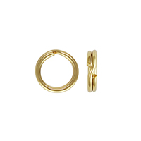 6mm 14k Yellow Gold Split Ring (1-Pc)