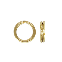 7mm 14k Yellow Gold Split Ring (1-Pc)