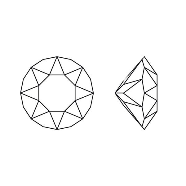 Line Art Earrings : Swarovski crystal mm ab xirius chatons