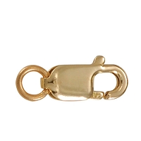 Lobster Clasp 12mm 14k Yellow Gold (1-Pc)