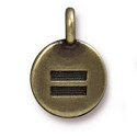Equality Charm with Loop 11.6mm Antique Brass Plated (1-Pc)