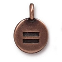 Equality Charm with Loop 11.6mm Antique Copper Plated (1-Pc)
