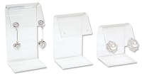 Acrylic Curved Top Earring Display 3 Piece Set