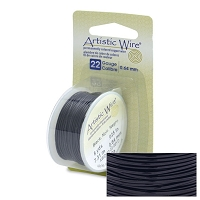 Artistic Wire 22 Gauge Black (8-Yd)