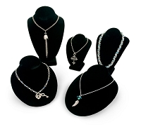 Black Necklace Busts Jewelry Display Kit #16