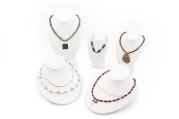 White Necklace Busts Jewelry Display Kit #16