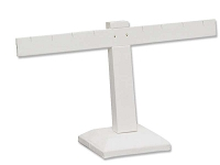 White Earring Stand T-Bar 4-Pairs