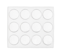 Half Size White Foam 12 Cup Gemstone Jar Tray Insert