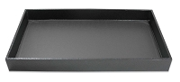1-½ Inch Tall Standard Size Black Jewelry Tray