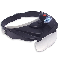 Magnifier Headset w/4 Lenses and Light