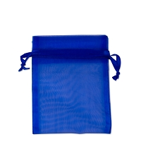 Organza Drawstring Bags 3x4 Royal Blue (10-Pcs)