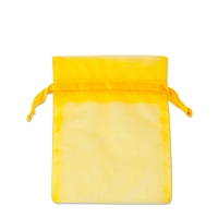 Organza Drawstring Bags 3x4 Yellow (10-Pcs)
