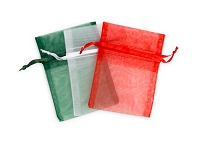 3x4 Holiday Mix Organza Bags (Package of 15)