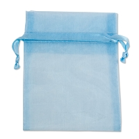 Organza Drawstring Bags 4x5 Light Blue (10-Pcs)