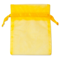 Organza Drawstring Bags 4x5 Yellow (10-Pcs)