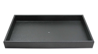 1-½ Inch Tall Standard Size Stackable Black Plastic Jewelry Utility Tray