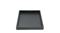 1 Inch Tall Half Size Stackable Black Plastic Utility Jewelry Tray