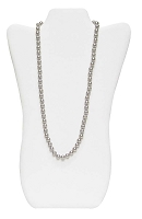 Necklace Display Tall White Leatherette