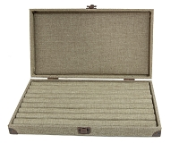 Burlap Display Case with Ring Pad Insert