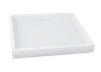1 Inch Tall Half Size Stackable White Plastic Jewelry Utility Tray