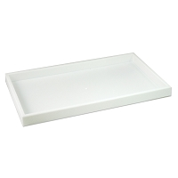 1 Inch Tall Standard Size Stackable White Plastic Jewelry Utility Tray