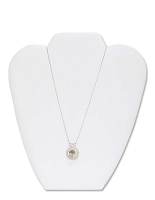 Necklace Display Short White Leatherette