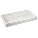 Stackable Plastic Utility Tray 1-1/2