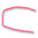 Vulcanite Heishi Beads 3mm Hot Pink (36