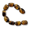 "Tiger Eye Baby Nuggets 8x12mm (16"" Strand)"