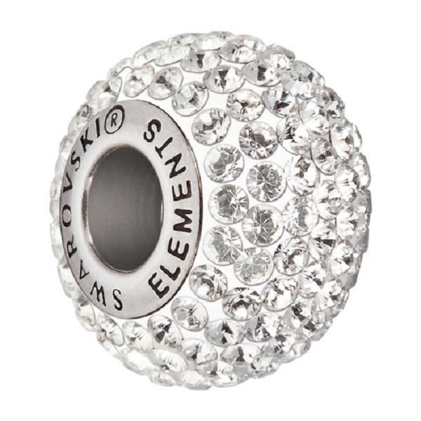 Swarovski Becharmed Pave Large Hole Bead 14mm Crystal