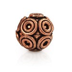 Designer Copper Bead 14x14mm (1-Pc)