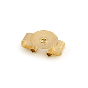 Gold Color Glue-on Disc Bolo Back 20mm  (2-Pcs)