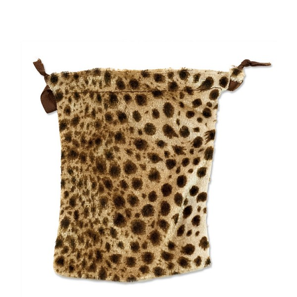 Velvet drawstring pouch medium leopard string bags wholesale for Drawstring jewelry bag pattern