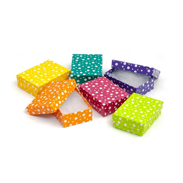 polka dot multi color size 32 gift box assortment where