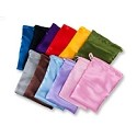 Satin Pouch Medium Assorted Color Mix (12-Pcs)