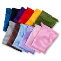 Satin Pouch Large Assorted Color Mix (12-Pcs)