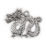 19x24mm Pewter Dragon Charm  (1-Pc)