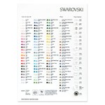 Swarovski Crystal Color Chart (1-Pc)