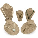 Burlap Necklace Bust Kit #16