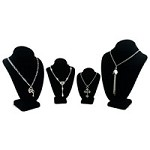 Black Velvet Necklace Display Bust Kit #17