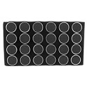 Gemstone Black Foam Tray Liner with 24 Cups