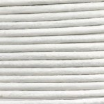 Leather Cord White 1mm (Priced per Yard)